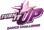 Turn It Up Dance Challenge Dance Competition Logotype